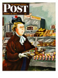 """NO Desserts,"" Saturday Evening Post Cover, March 12, 1949 Giclee Print by Constantin Alajalov"