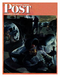 &quot;Tank Factory,&quot; Saturday Evening Post Cover, November 20, 1943 Reproduction proc&#233;d&#233; gicl&#233;e par Robert Riggs