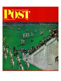 """Baton Twirlers Leave the Field,"" Saturday Evening Post Cover, November 17, 1962 Giclee Print by Thornton Utz"
