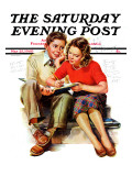 """Helping with Homework,"" Saturday Evening Post Cover, May 25, 1940 Giclee Print by Frances Tipton Hunter"