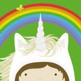 Peek-a-Boo Heroes: Unicorn Art by Yuko Lau