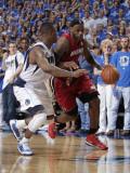 Miami Heat v Dallas Mavericks - Game Four, Dallas, TX -June 7: LeBron James and DeShawn Stevenson Photographic Print by Glenn James