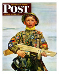 """Commando Kid,"" Saturday Evening Post Cover, October 14, 1944 Giclee Print by Howard Scott"