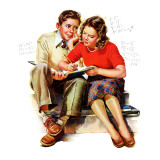 """Helping with Homework,"" May 25, 1940 Giclee Print by Frances Tipton Hunter"