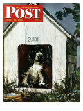 """In the Doghouse,"" Saturday Evening Post Cover, April 24, 1948 Giclee Print by Albert Staehle"