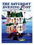 """Lake House,"" Saturday Evening Post Cover, July/Aug 1983 Giclee Print by Ann Thompson"