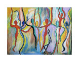 Energy Dance Collectable Print by Rina Bakis