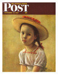 """Portrait of a Little Girl,"" Saturday Evening Post Cover, September 13, 1947 Giclee Print by Alexander Brook"