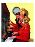 """Hotel Switchboard Operators,"" June 21, 1941 Reproduction procédé giclée par Albert W. Hampson"