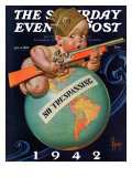 """No Trespassing,"" Saturday Evening Post Cover, January 3, 1942 Giclee Print by J.C. Leyendecker"