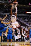 Dallas Mavericks v Miami Heat - Game Six, Miami, FL - June 12: Dwyane Wade and Dirk Nowitzki Photographic Print by Garrett Ellwood