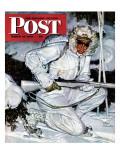 """""""Ski Patrol Soldier,"""" Saturday Evening Post Cover, March 27, 1943 Reproduction procédé giclée par Mead Schaeffer"""