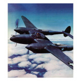 """Airborne Bomber,"" August 29, 1942 Giclee Print by Ivan Dmitri"