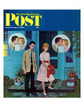 """Goodnight Kiss,"" Saturday Evening Post Cover, July 28, 1962 Giclee Print by Amos Sewell"