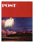 """Kremlin Fireworks,"" Saturday Evening Post Cover, November 4, 1967 Giclee Print by John Launois"