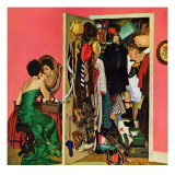 """Hunting His Tux for the Party,"" March 31, 1962 Giclee Print by Richard Sargent"