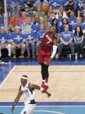 Miami Heat v Dallas Mavericks - Game Three, Dallas, TX -June 5: Dwyane Wade and Jason Terry Photographic Print by Glenn James