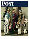 """""""Apartment Painters,"""" Saturday Evening Post Cover, May 1, 1948 Giclee Print by Stevan Dohanos"""