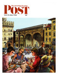 &quot;Writing Postcards Home,&quot; Saturday Evening Post Cover, June 30, 1962 Giclee Print by Constantin Alajalov