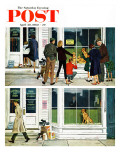 """Puppy Sellout,"" Saturday Evening Post Cover, April 30, 1960 Giclee Print by George Hughes"