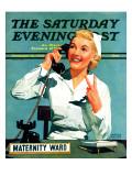 """Maternity Ward,"" Saturday Evening Post Cover, December 14, 1940 Impression giclée par John Hyde Phillips"