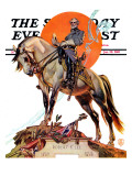 """Robert E. Lee on Traveler,"" Saturday Evening Post Cover, January 20, 1940 Giclee Print by Joseph Christian Leyendecker"
