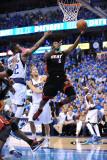 Miami Heat v Dallas Mavericks - Game Five, Dallas, TX -June 9: LeBron James and DeShawn Stevenson Photographic Print by Garrett Ellwood