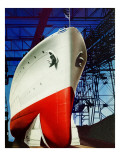 &quot;Dry Dock,&quot; July 5, 1941 Giclee Print by Arthur C. Radebaugh