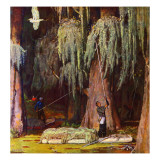 """Spanish Moss pickers,"" April 5, 1947 Giclee Print by Mead Schaeffer"