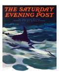 """Swordfish,"" Saturday Evening Post Cover, February 28, 1942 Giclee Print by William Goadby Lawrence"
