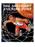 """Two Points,"" Saturday Evening Post Cover, January 24, 1942 Giclee Print by Ski Weld"
