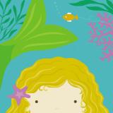 Peek-a-Boo Heroes: Mermaid Poster av Yuko Lau