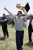Mavericks Return to Dallas as NBA Champions, DALLAS, TX - June 13: Jose Juan Barea Photographic Print by Glenn James