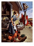 &quot;Dinner Bell,&quot; October 21, 1944 Giclee Print by Stevan Dohanos