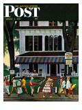 """Inn in Ogunquit,"" Saturday Evening Post Cover, August 2, 1947 Giclee Print by John Falter"