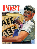 """Sending Supplies Overseas,"" Saturday Evening Post Cover, August 15, 1942 Giclee Print by Howard Scott"