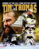 Boston Bruins - Tim Thomas Conn Smythe MVP Portrait Plus Photo