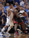 Miami Heat v Dallas Mavericks - Game Five, Dallas, TX -June 9: LeBron James and Shawn Marion Photographic Print by Glenn James