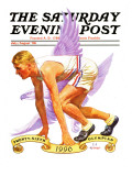 """26th Olympiad,"" Saturday Evening Post Cover, July/Aug 1996 Giclee Print by J.F. Kernan"