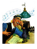 """Singing Telegram,"" April 13, 1940 Giclee Print by Emery Clarke"