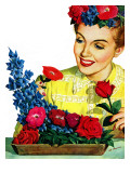 """Arranging Flowers,"" June 5, 1943 Giclee Print by Al Moore"