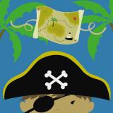Peek-a-Boo Heroes: Pirate Poster von Yuko Lau