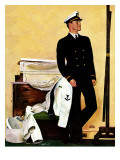 """New Naval Officer,"" July 10, 1943 Giclee Print by John Falter"