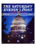 &quot;Capitol Hill,&quot; Saturday Evening Post Cover, November 2, 1940 Reproduction proc&#233;d&#233; gicl&#233;e par William Edwin Booth
