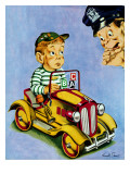 """Kiddie Car With Rationing Stickers,"" April 1, 1944 Giclee Print by Ken Stuart"