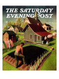 """Spring 1942,"" Saturday Evening Post Cover, April 18, 1942 Giclee Print by Grant Wood"