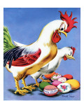 """Easter Eggs and Chickens,"" April 24, 1943 Giclee Print by Ken Stuart"