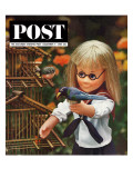 """New Toys 1963,"" Saturday Evening Post Cover, December 7, 1963 Giclee Print by Allan Grant"