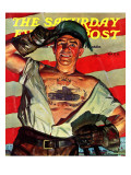 """Tank Tattoo,"" Saturday Evening Post Cover, November 8, 1941 Giclee Print by Howard Scott"
