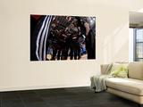 Miami Heat v Dallas Mavericks - Game Five, Dallas, TX -June 9: Dwyane Wade, Mario Chalmers, Mike Mi Wall Mural by Andrew Bernstein